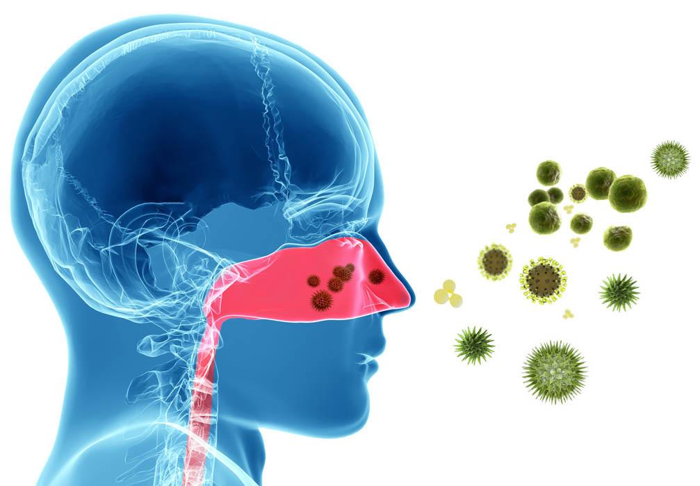 Allergia al polline - 3D Render