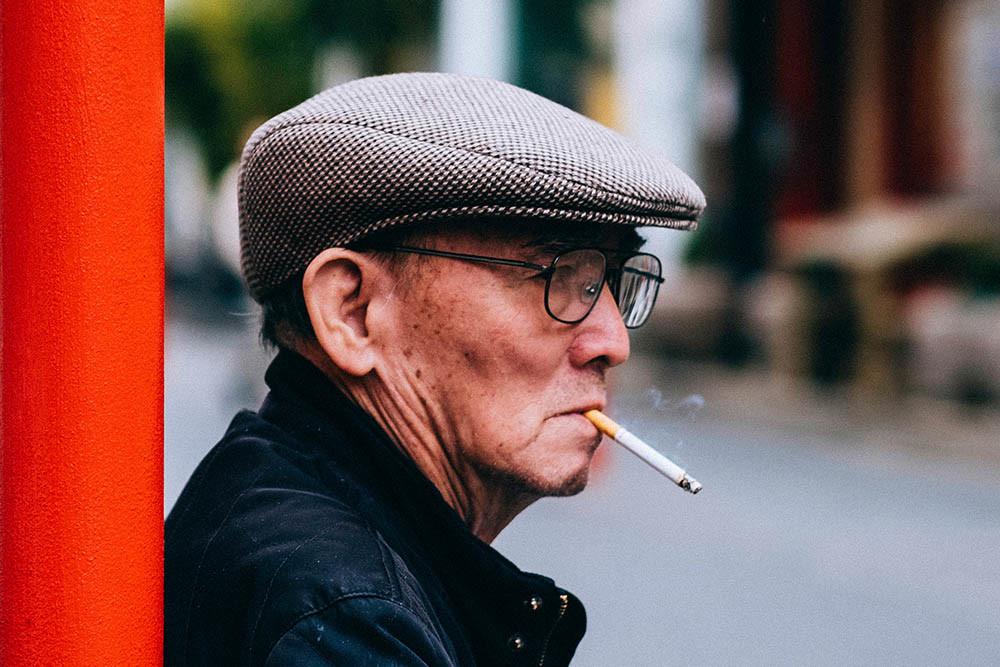 Sigaretta e anziano fumatore con BPCO